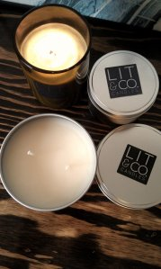 Beer soy candle
